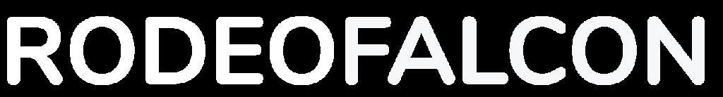 rodeo falcon enterprises white logo